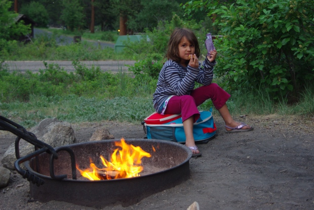 snacking by the fire