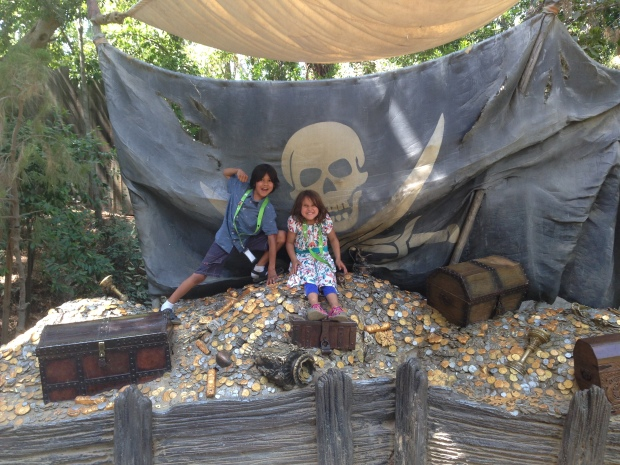 Arr matey! Treasure on Tom Sawyer's Island.